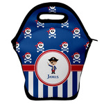 Blue Pirate Lunch Bag w/ Name or Text