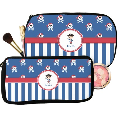Blue Pirate Makeup / Cosmetic Bag (Personalized)
