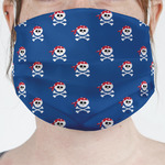 Blue Pirate Face Mask Cover (Personalized)