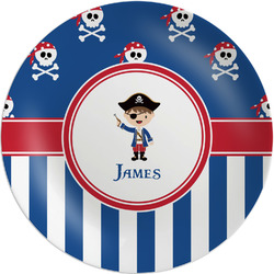 Blue Pirate Melamine Plate (Personalized)