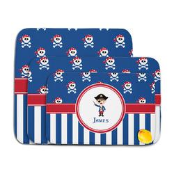 Blue Pirate Memory Foam Bath Mat (Personalized)