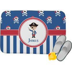 Blue Pirate Memory Foam Bath Mat (Personalized)