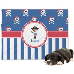 Blue Pirate Minky Dog Blanket - Regular (Personalized)