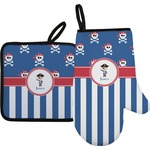 Blue Pirate Oven Mitt & Pot Holder (Personalized)