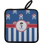 Blue Pirate Pot Holder w/ Name or Text