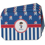 Blue Pirate Dining Table Mat - Octagon w/ Name or Text