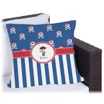 Blue Pirate Outdoor Pillow (Personalized)