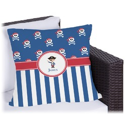 """Blue Pirate Outdoor Pillow - 18"""" (Personalized)"""