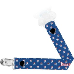 Blue Pirate Pacifier Clips (Personalized)