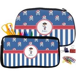 Blue Pirate Pencil / School Supplies Bag (Personalized)