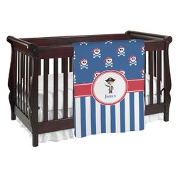 Blue Pirate Baby Blanket (Personalized)