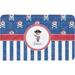 Blue Pirate Bath Mat (Personalized)