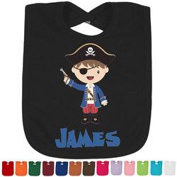 Blue Pirate Baby Bib - 14 Bib Colors (Personalized)