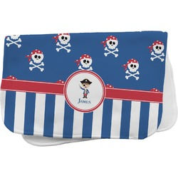 Blue Pirate Burp Cloth (Personalized)
