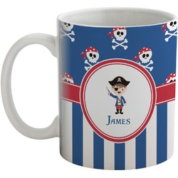 Blue Pirate Coffee Mug (Personalized)