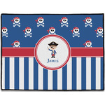 Blue Pirate Door Mat (Personalized)