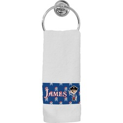 Blue Pirate Hand Towel (Personalized)
