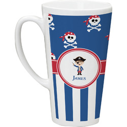 Blue Pirate Latte Mug (Personalized)