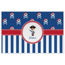 Blue Pirate Placemat (Laminated) (Personalized)
