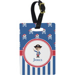 Blue Pirate Rectangular Luggage Tag (Personalized)