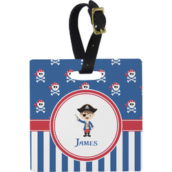 Blue Pirate Luggage Tags (Personalized)