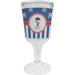 Blue Pirate Wine Tumbler (Personalized)