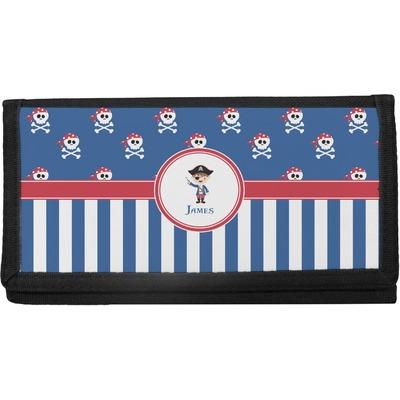 Blue Pirate Canvas Checkbook Cover (Personalized)
