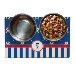Blue Pirate Dog Food Mat (Personalized)