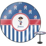 Blue Pirate Round Table Top (Personalized)