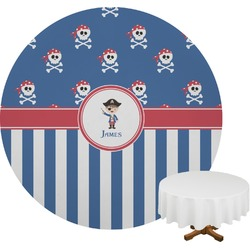 Blue Pirate Round Tablecloth (Personalized)