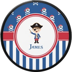 Blue Pirate Round Trailer Hitch Cover (Personalized)