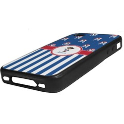 Blue Pirate Rubber iPhone Case 4/4S (Personalized)
