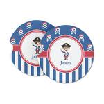 Blue Pirate Sandstone Car Coasters (Personalized)