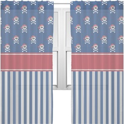 Blue Pirate Sheer Curtains (Personalized)