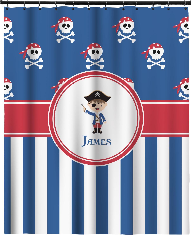 Blue Pirate Shower Curtain 70x90