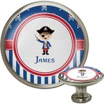 Blue Pirate Cabinet Knob (Silver) (Personalized)