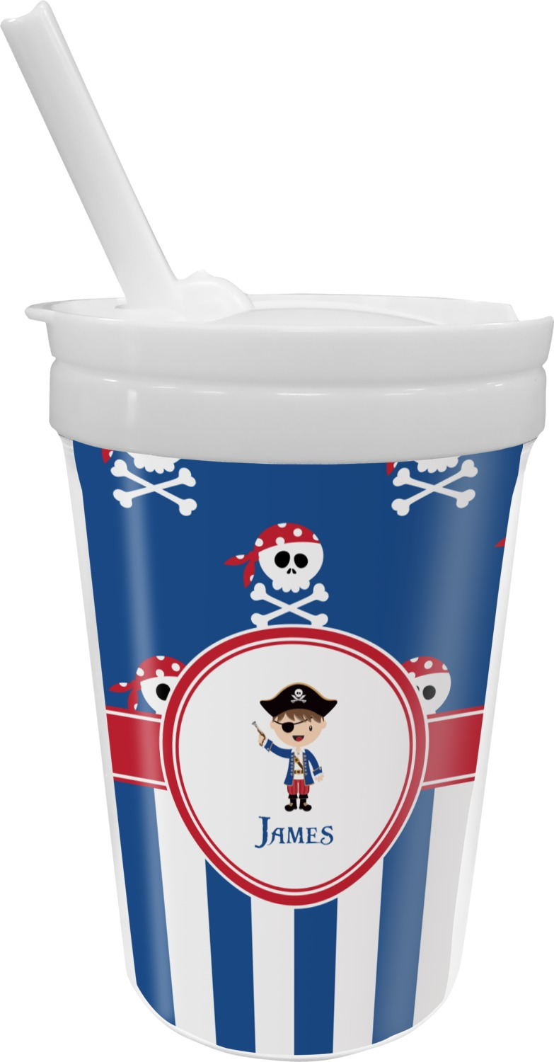 straw sippy cups blue pirate sippy cup with straw personalized 30700
