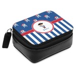 Blue Pirate Small Leatherette Travel Pill Case (Personalized)