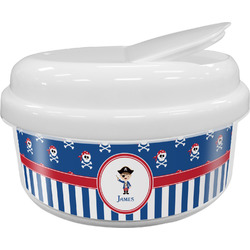 Blue Pirate Snack Container (Personalized)
