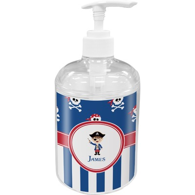 Blue Pirate Acrylic Soap & Lotion Bottle (Personalized)