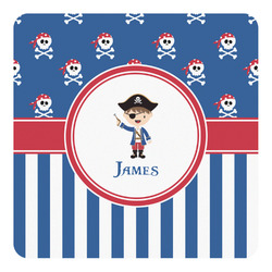 Blue Pirate Square Decal - Custom Size (Personalized)