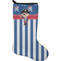 Blue Pirate Christmas Stocking - Neoprene (Personalized)