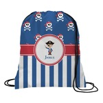 Blue Pirate Drawstring Backpack (Personalized)