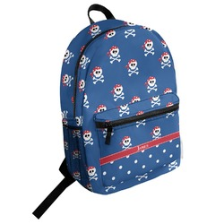 Blue Pirate Student Backpack (Personalized)