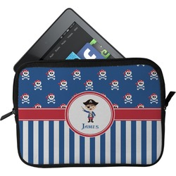 Blue Pirate Tablet Case / Sleeve (Personalized)