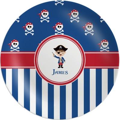 Blue Pirate Melamine Plate (Personalized)
