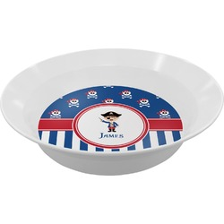 Blue Pirate Melamine Bowl (Personalized)