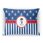 Blue Pirate Rectangular Throw Pillow (Personalized)