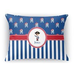 "Blue Pirate Rectangular Throw Pillow - 18""x24"" (Personalized)"