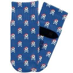 Blue Pirate Toddler Ankle Socks (Personalized)